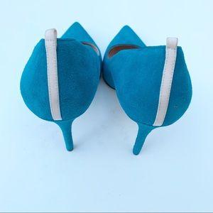 SJP by Sarah Jessica Parker Shoes - SJP Sarah Jessica Parker Teal Suede Heels